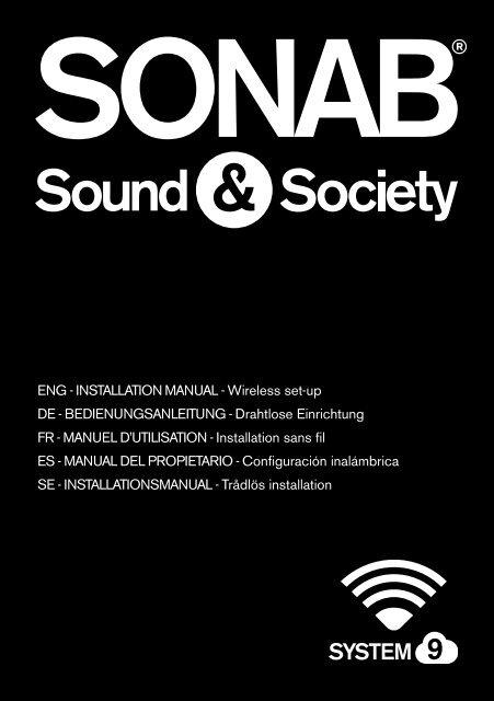 ENG - iNstallatioN maNual - Wireless set-up DE ... - Sonab Audio