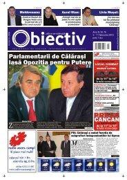 Parlamentarii de Cãlãraºi lasã Opoziþia pentru Putere - Obiectiv