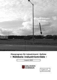Antagen Planprogram för NOBBLE i Reftele augusti 2009