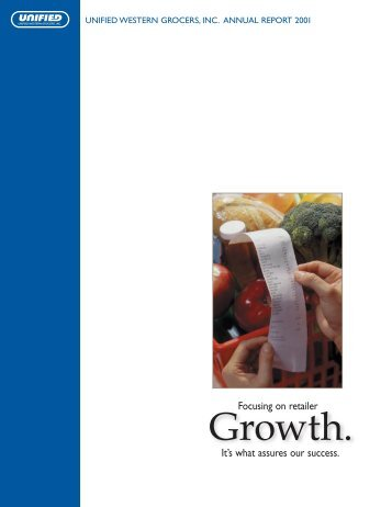 UWGAnnualReport01 - Unified Grocers