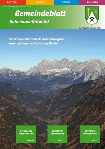 Ausgabe 3/2012 - Gemeinde Rohrmoos-Untertal