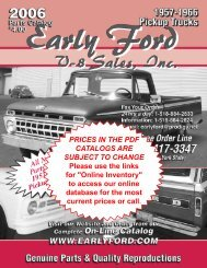 Prices In The Pdf Catalogs Are Subject To - Early Ford V8 Sales