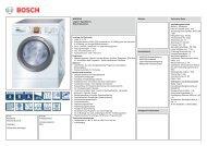 Technische Daten Bosch WAS28750 - VS Elektro