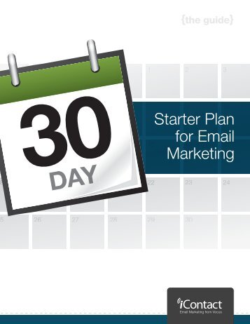 Starter Plan for Email Marketing - iContact