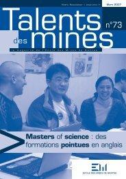 talent 73 Vfrançais.indd - Ecole des mines de Nantes