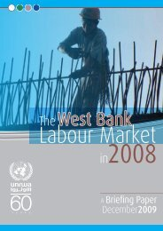 The West Bank Labour Market in 2008 - Unrwa