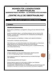 """""""Centre Ville"""" de Obertraubling - La Brique GmbH"""