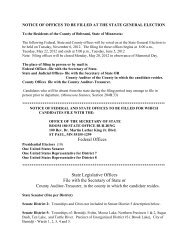 NOTICE OF OFFICES TO BE FILLED AT THE ... - Beltrami County