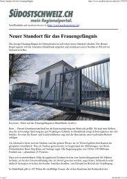 Neuer Standort für das Frauengefängnis - BSPV