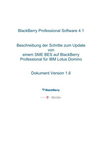 BlackBerry Professional Software 4.1 ... - wireless & mobile