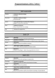 programmations 11 12 - Académie de Nancy-Metz