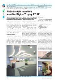 Nejkrásnější interiéry soutěže Rigips Trophy 2012 - Stavebnictví a ...