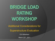 Additional Considerations for Superstructure Evaluation Presentation