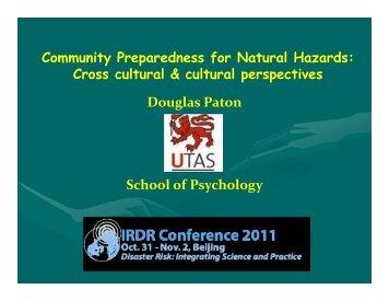 Community Preparedness for Natural Hazards: Cross ... - IRDR