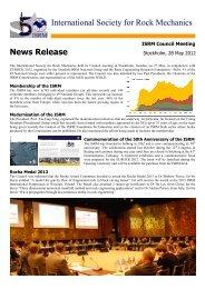 News Release - ISRM