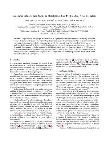Autômatos Celulares para Análise da Monotonicidade da ...