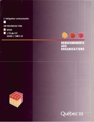 Renseignements sur le Programme d'obligation contractuelle - CDPDJ