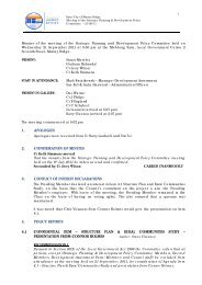 Strategic Planning and Development Policy Committee Minutes