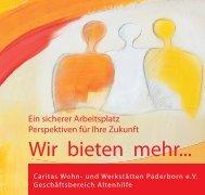 Wir bieten mehr... - Caritas Wohn