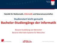 Bachelor-Studiengänge der Informatik - Podcampus