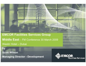 EMCOR Facilities Services Group Middle East - ITP.net