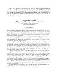 Faith and Reason - National Great Books Curriculum