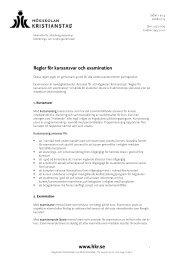 Regler för kursansvar och examination - Högskolan Kristianstad