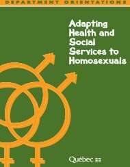 Adapting health and social services to homosexuals
