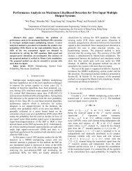 Performance Analysis on Maximum Likelihood Detection for Two ...