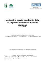 Immigrati e servizi sanitari in Italia - Agenzia Regionale Sanitaria