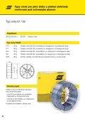 plné dráty a plněné elektrody svařované pod ochranným plynem - Page 2