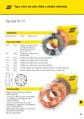 plné dráty a plněné elektrody svařované pod ochranným plynem - Page 3