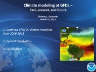 GFDL Climate Program Overview - Earth System Prediction ...