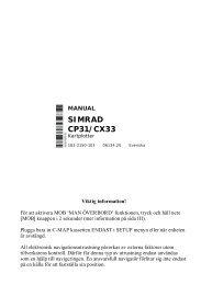 SIMRAD CP31/CX33