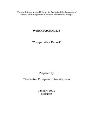 Comparative analysis on the fieldwork of six European countries - Surt