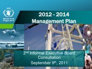 2012-2014 Management Plan - WFP Remote Access Secure Services