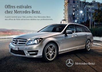 Offres estivales chez Mercedes-Benz.