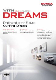 Dedicated to the Future: Our First 10 Years - Honda Malaysia