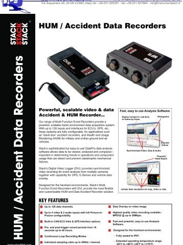 DVR2_HUMS_Accident Recorders - INSTRUMENTATION DEVICES