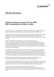 CLARIANT-CONFIRMS-ACCURACY-OF-ITS-NEW-ONE-WAY ...