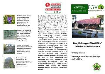 "Die ""Driburger EGV-Hütte"" - Eggegebirgsverein"