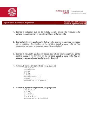 05 Primeros Programas (II)