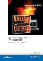 A revolution in Safety Instrumented Systems Expanding ... - Yokogawa