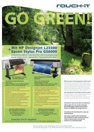 Mit HP Designjet L25500 Epson Stylus Pro GS6000 - Rauch IT
