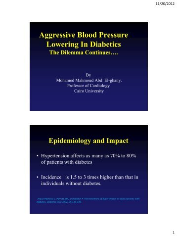 Debates in aggressive blood pressure reduction in ... - RM Solutions