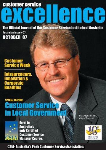 Customer Service in Local Government - Customer Service Institute ...