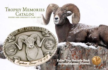Trophy Memories Catalog - Boone and Crockett Club