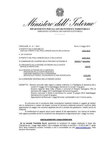 circolare ministero dell'interno - Comune di Budoni