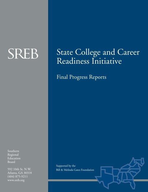 Final Progress Reports - Southern Regional Education Board