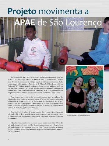 Projeto movimenta a APAE de São Lourenço - Confef